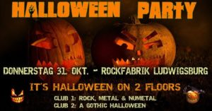 Halloween Rockfabrik Ludwigsburg